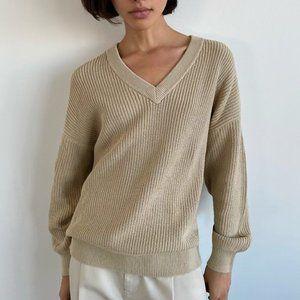 Aritzia Tna Beacon Sweater Oversized, v-neck sweater Sz/ XS/S/M